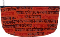 Viniyog Hand Printed Sloka Design Art Cloth Pencil Box(Set of 1, Brown)