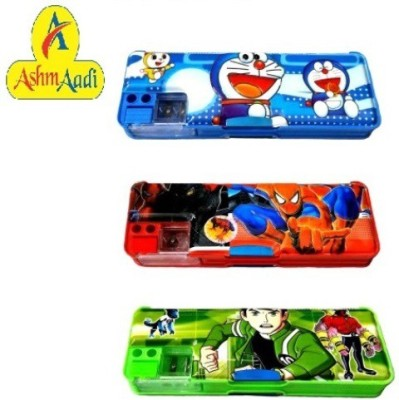 AshmAadi Unisex Cartoons/Characters Art Plastic Pencil Boxes