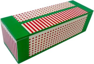 Treasure Hunt Geometrical Design Series Dots And Stripes Art Wooden Pencil Box