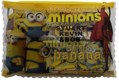 Shopaholic Minions Cartoon Art Plastic Pencil Box