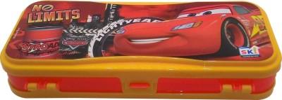SKI No Limits Disney Car Art Plastic Pencil Box