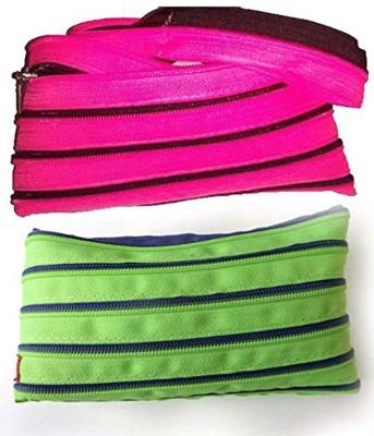 ENERZY Multi Colour Zipper Pouch Art Zip & Cloth Pencil Boxes