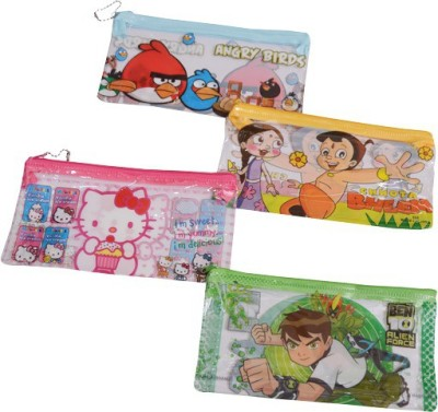 Priyankish Smart Kidz Cartoons Art Pvc Pencil Boxes