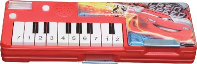 Disney Piano Series Piano, Cars Art Plastic Pencil Box(Set of 1, Red)