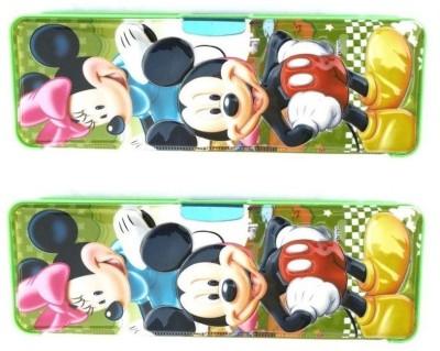 FCS MM Toons Art Plastic Pencil Boxes(Set of 2, Multicolor)