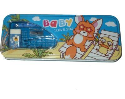 Karta Baby With Sharpner & Rubber Art Metal Pencil Box