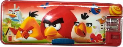 Karta Angry Bird With Led Light & Dual Sharpner Art Plastic Pencil Box