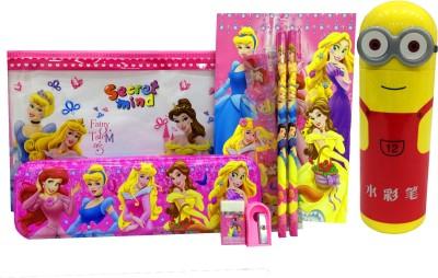 Gayatri Creations BEST OF LUCK CARTOON Art METAL Pencil Box