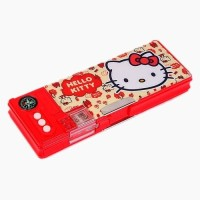 Sanrio Hello Kitty Plastic Pencil Box(Set of 1, Red)