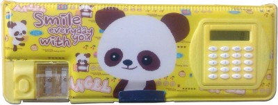 Karta Yellow Angel With Calculator Art Plastic Pencil Box