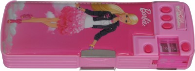 Hm International Barbie Cartoon Art Metal Pencil Box