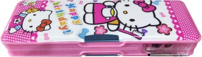 MVEshoppers HAPPY BIRTHDAY-068 BIRTHDAY SPECIAL KITTY WITH SHARPNER Art PLASTIC Pencil Box