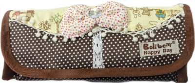Aardee delicate bow Design Art Thick fabric Pencil Box