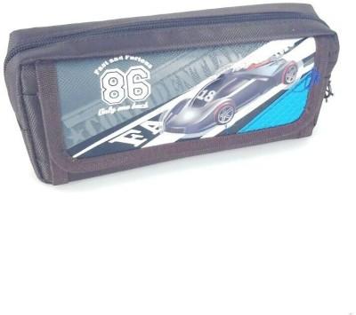 Chrome Series Printed Car Art Cloth Pencil Box
