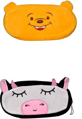 AVE NA Cartoon Face Art Soft Fabric Pencil Boxes