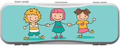 SKIN4GADGETS Skin4Gadgets KIDS HOLDING HANDS1 Designer Campass Box PATTERN Art Plastic Pencil Box