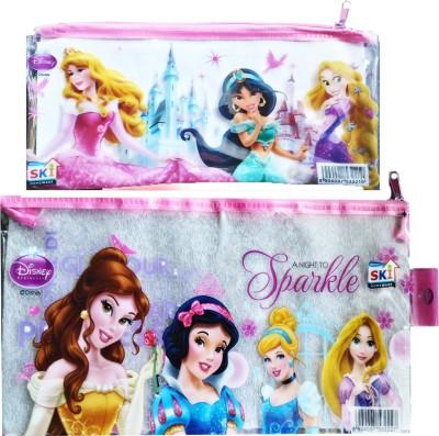 Disney Princess Cartoon Print Art Plastic Pencil Boxes