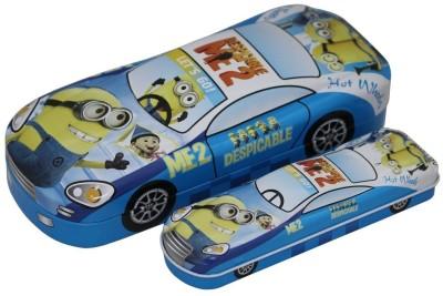 Shopaholic Minion Car shaped Art Metal Pencil Boxes
