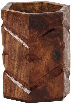 Derien wave hand carved Art wooden Pencil Box