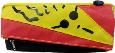 Aardee Colourful Face Design Art Thick fabric Pencil Box