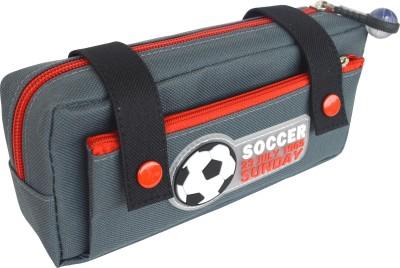 Chrome Series Printed Soccer Art Cloth Pencil Box
