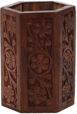 Derien flower chain hand carved Art wooden Pencil Box