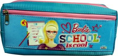 Barbie Character Face Art Fabric Pencil Box(Set of 1, Black, Pink)