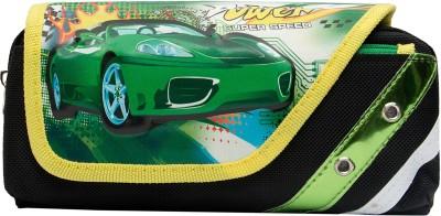 Pokizo 3D Emboss Car Quicken Speed Art High Quality Fabric Pencil Box