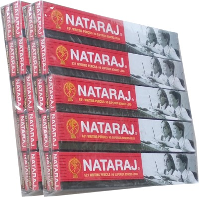 NATRAJ red & Black Hexagonal Shaped Pencils