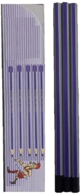 F&C Round Round Shaped Pencils(Set of 1, Purple, Grey)