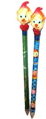 Globalgifts Shaklaka Boom Boom Round Shaped Pencils(Set of 2, Multicolor)