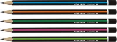 Flair Neon Super Black Triangular Shaped Pencils