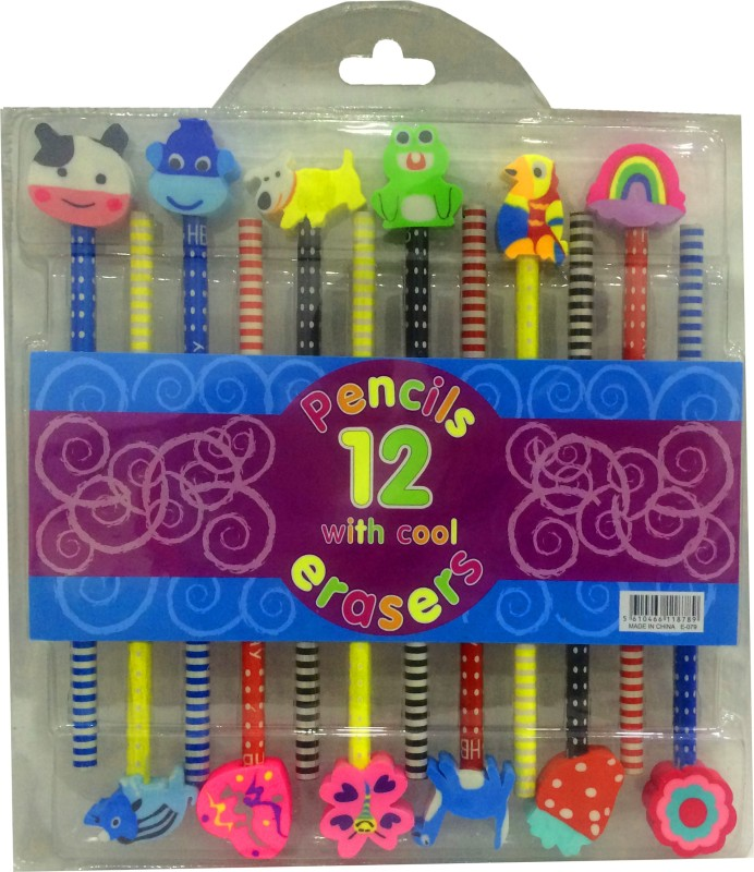 Gayatri Creations BEST OF LUCK Round Shaped Pencil(ASSORTED)