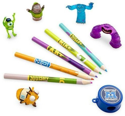 Disney Monster Round Shaped Pencils(Set of 11, Multicolor)