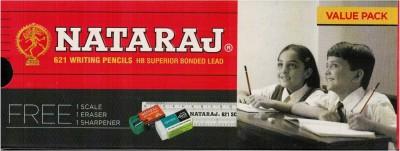 Nataraj 621 Hexagonal Shaped Pencils(Set of 2, Red Black)