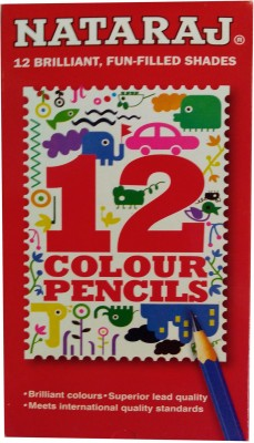 Nataraj 12 Shades Round Shaped Pencils