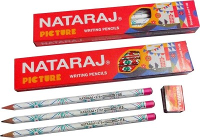 Nataraj Picture Round Shaped Pencils(Set of 10, Black)