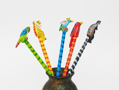 Aromagarden Indian birds Hexagonal Shaped Pencils