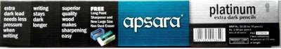 Apsara Platinum Hexagonal Shaped Pencils(Set of 3, Grey, Black)