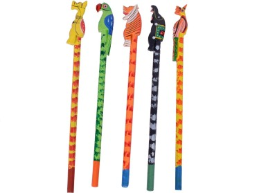Desi Toys Angry Birds Hexagonal Shaped Pencils(Set of 5, Multicolor)