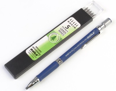 BAILE 2.0mm Mechanical Auto Pencil + Lead Box (5 Leads) Round Shaped Pencils