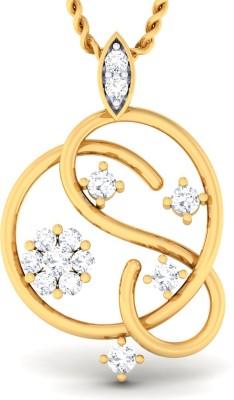 Damor Argent 18kt Diamond Yellow Gold Pendant