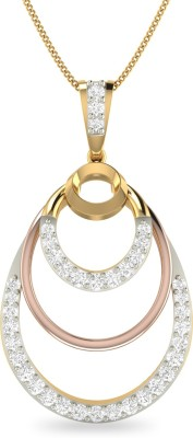 WearYourShine by PC Jewellers PC Jeweller The Devovny 18kt Diamond Yellow Gold Pendant at flipkart