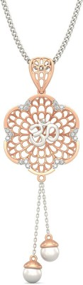 BlueStone Omkara 18kt Diamond, Pearl Rose Gold Pendant