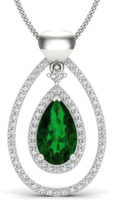 S S Jewellers Platinum Swarovski Crystal Sterling Silver Locket at flipkart