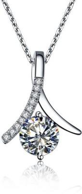 S S Jewellers Platinum Swarovski Crystal Sterling Silver at flipkart
