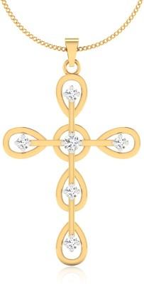 IskiUski Son of Cross 14kt Swarovski Crystal Yellow Gold Pendant(Yellow Gold Plated) at flipkart
