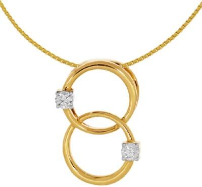Kalyan Jewellers Light Weight 18kt Diamond Yellow Gold Pendant