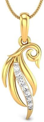 Candere Calista 14kt Diamond Yellow Gold Pendant