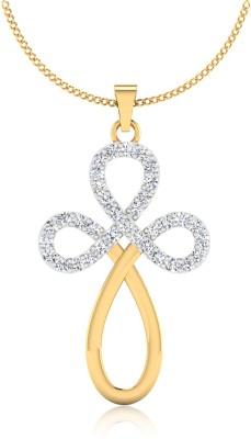 IskiUski Savior 14kt Swarovski Crystal Yellow Gold Pendant(Yellow Gold Plated) at flipkart